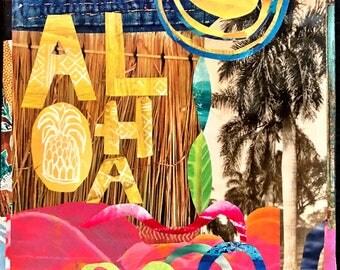 Top Seller, ALOHA SUN, 8x10, 11x14, 16x20, Hawaii, Hand-Signed Matted Print, Hawaii art, beach art, ocean, orchids, aloha