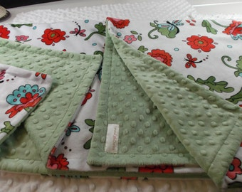 """Double minky toddler baby blanket or throw 35"""" X 50"""""""