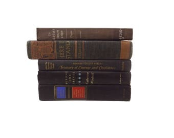 Black Book Stack, Wedding Centerpiece, Shabby Vintage Books, Faded Black Book Spines, Books for Home Decorating, Distressed Books
