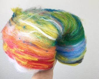 Over the Rainbow - Wool Art Batt 3.0 oz