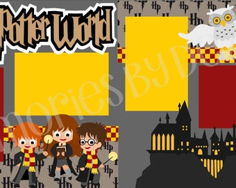 Harry Potter World 2-Page 12X12  Scrapbook Page Kit Or Premade Layout