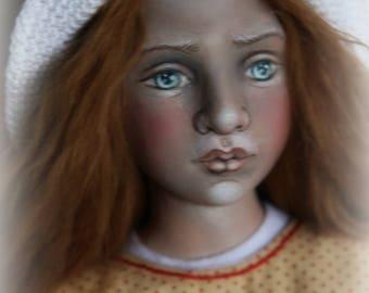 Summer Cherries Handmade ooak cloth doll