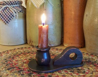 Primitive Wooden Candle Paddle with Fingerhold Handle / Handmade Color Choice