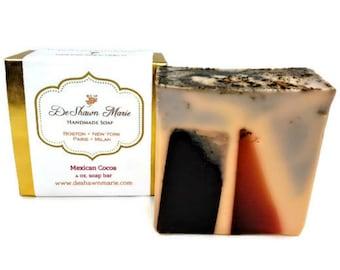SOAP, Mexican Cocoa Soap, Coffee Scrub Soap, Handmade Soap, Vegan Soap, Christmas Gift, Natural Soap, Hot Cocoa Soap, Spice Soap,Soap Favors