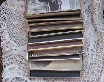 Lot 13 Vintage Gold metal Picture Frames, All 8 x 10's NO glass