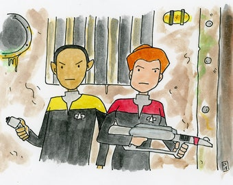The Chute - illustration inspired by the episode of Star Trek Voyager