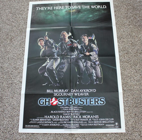 1984 Ghostbusters Movie One Sheet Poster, 41 x 27, Vintage 1980s Original Movie Poster