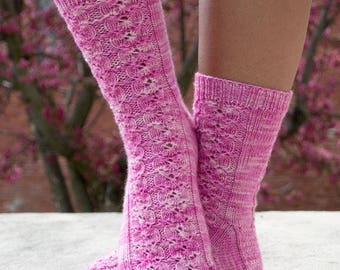 Spring in Japan Socks Knitting Pattern - PDF