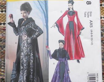 McCall's 6818 - Gothic Halloween Costumes - Cosplay - Renaissance, Witch, Steampunk, Vampiress, Dramatic Capes - Size 4 - 12 - UNCUT