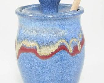 Honey Pot - Honey Jar - Honey Container - Pottery Honey Jar - Sauce Jar - Pottery Honey Pot - Honeypot - Ceramic Honey Pot - In Stock