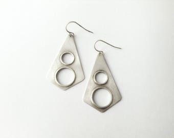 modern earrings-geometric earrings-sterling silver-geometric jewelry