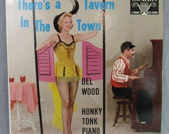 "Del Wood Honky Tonk Piano There's a Tavern in the Town Record Vintage 12"" Vinyl LP Album Vocalion"
