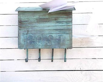 Mailbox, Mailbox Wall Mount, Old Letter Box, French Post, Porch Decor