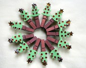 Reserved For Doris Christmas Tree Place Card Holders Magnets