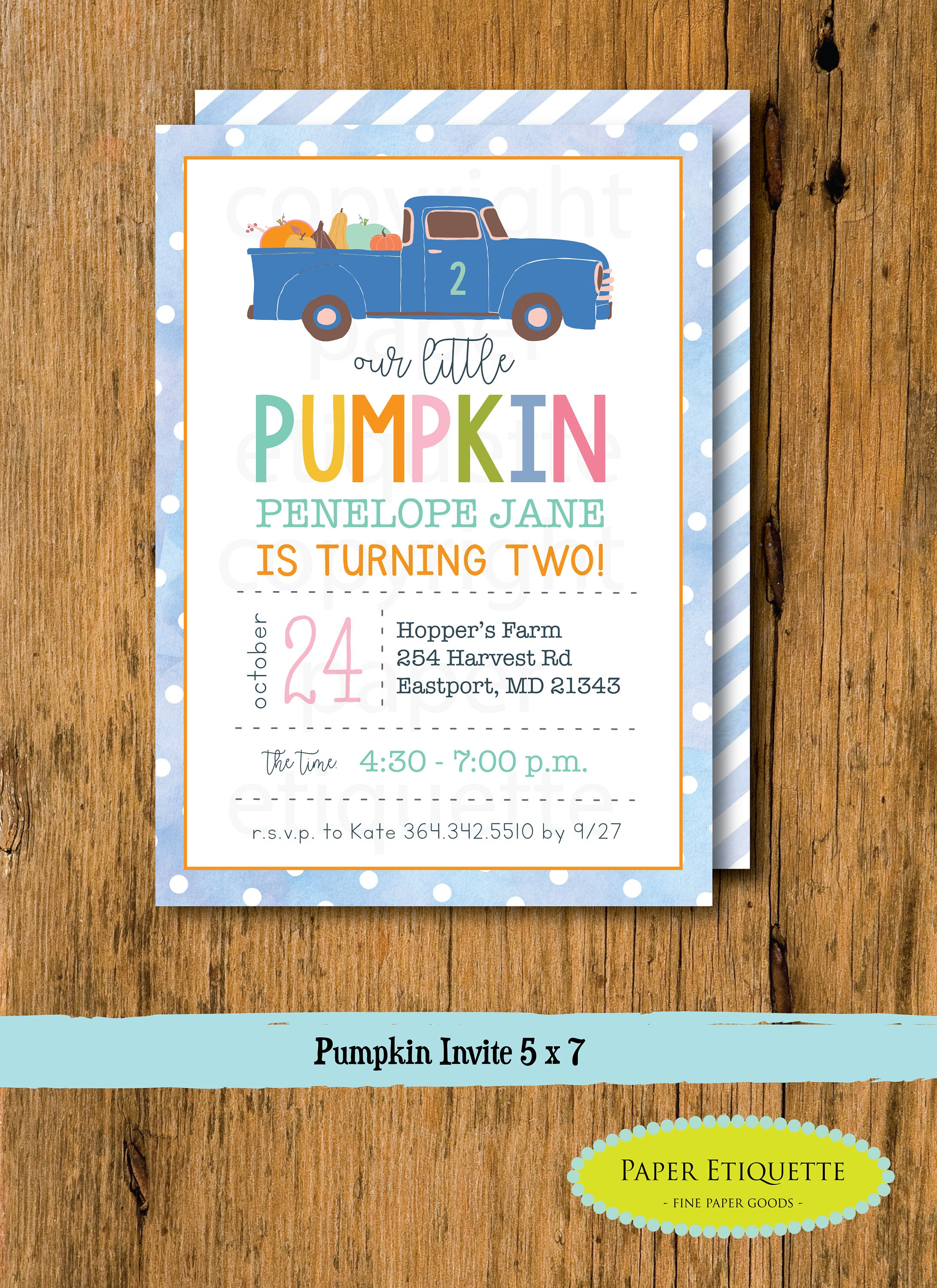 Pumpkin Birthday Party Invitation, Oh What Fun Turning One,Fall ...