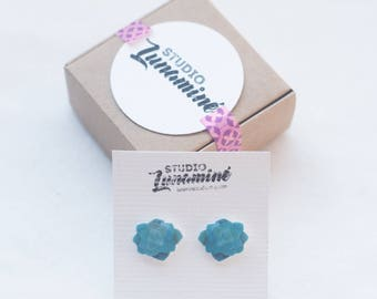 Botanical Succulent Jewelry, Cute Earrings, Succulent Studs Earrings, Succulent Earrings, Botanical Art, Botanical Jewelry, Handmade Earring