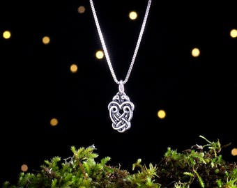 Sterling Silver Celtic Lovebirds - (Charm, Necklace or Earrings)