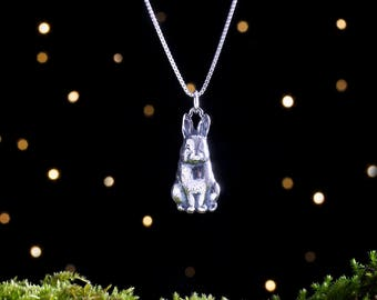 Sterling Silver Bunny Rabbit - (Pendant, Necklace or Earrings)