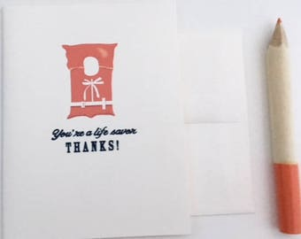 Life Savor Card // Life Jacket Greeting Card
