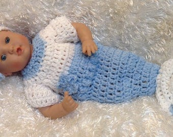 Clothes for 12 And 15 inch soft bodied  Dolls.Mermaid set.Blue/White