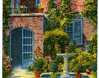 Vintage New Orleans Postcard - The Little Theatre Courtyard (Unused)