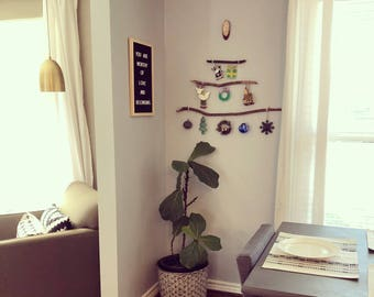 Rustic ornament tree