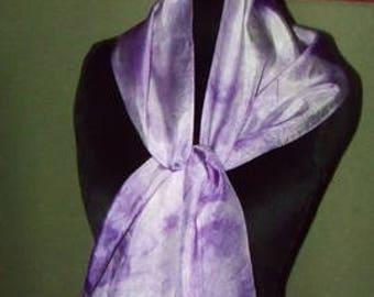 Violet Mottled Scarf
