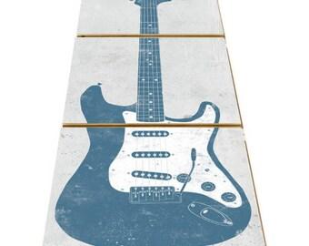 Guitar Gifts for Men - Electric Guitar - Gift for Musician - Music Lover - Guitar Art - Music Teacher Gift - Musical Desk Decor - Music Gift