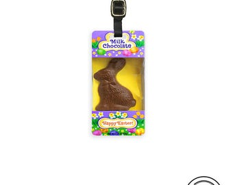 Luggage Tag Easter Bunny Chocolate Rabbit Candy Kawaii Personalized Luggage Tag Metal Single Tag