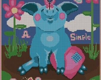 Enjoy a Simple Life Digital Cross Stitch Chart