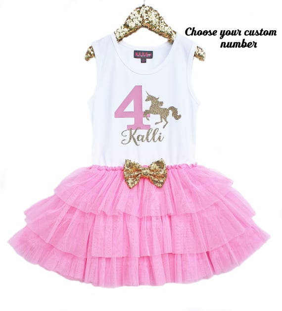 Unicorn Birthday, Girls 1st Birthday, First Birthday Dress, Pink ...