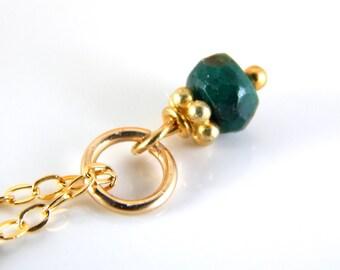 Mini Emerald Charm ~ Emerald Dangle ~ Gemstone Charm ~ add a charm ~ add a dangle ~ AdoniaJewelry