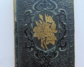 1857 The Rose Of Sharon - Antique Leather Book