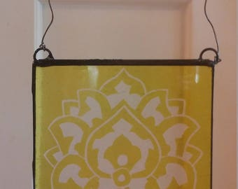 Yellow Stained Glass Suncatcher