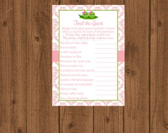 Two Peas In A Pod Baby Shower, Twins Baby Shower, Girl Baby Shower,