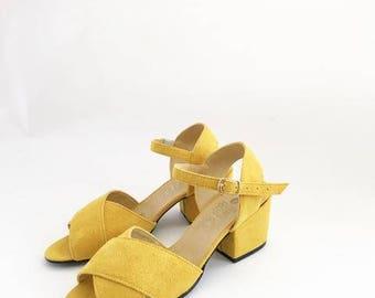 Valentine Criss Cross Heeled Sandals (Handmade to order)