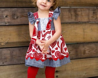 Knot Right Now Top and Dress PDF Sewing Pattern, including sizes 3 months-12 years,  Girls Dress Pattern, Girls Top Pattern