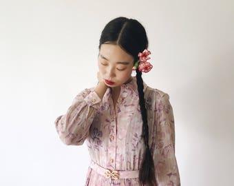 Nakameguro, flower dress, vintage, Japan, medium