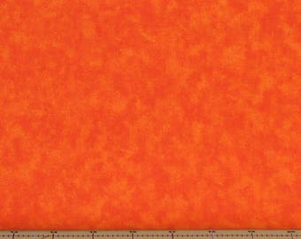 Orange Mottled Texture 100% Cotton Quilt Fabric Blender for Sale from Marshall Dry Goods, MDGCloud-Orange, Yardage