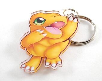 Digimon Chibi Agumon Keychain