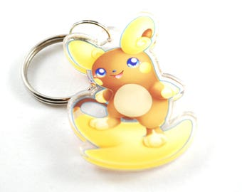 Pokemon Chibi Alolan Raichu Keychain