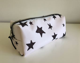 Toiletry/Cosmetics Bag - Slate on White