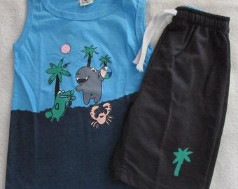 Baby Boy Summer Clothes T Shirt/Shorts 2 Piece Set