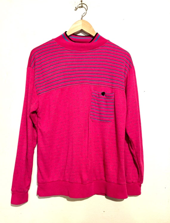 90s Vintage Mock Turtle Neck Top