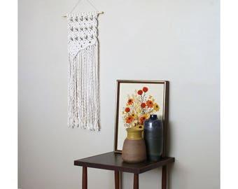 Asymmetrical Macrame Wall Hanging