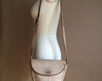 SALE! vintage 1990's 90's Coach purse / cross body bag / shoulder bag / tote / distressed leather / Made in the USA