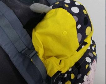 """PDF Pattern: Beco Gemini compatible Baby Carrier Hood - Reversible, Removable """"Hoodie"""" Sleeping Hood Pattern babywearing."""