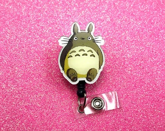 My Neighbor Totoro Studio Ghibli Anime Manga Movie Disney Nerd Geek Retractable Work ID Name Tag Badge Reel Holder Nurse Cna Technician Rn