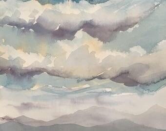 Original Painting Landscape Utah Desert Watercolor Painting Original Painting 8x10 wall art