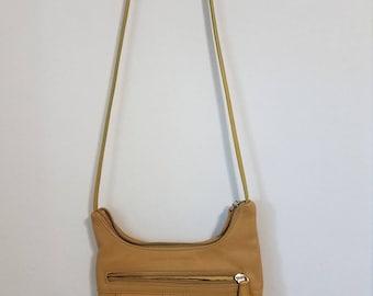 Vintage, Stone Mountain Beige Leather shoulder bag